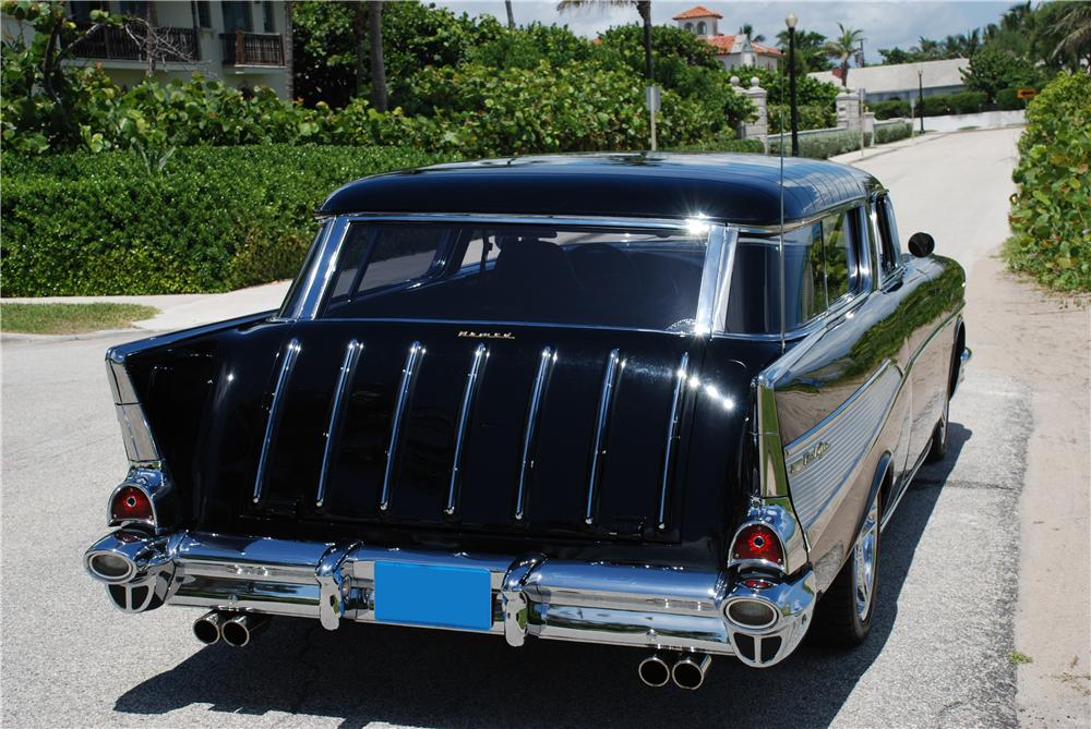1957 CHEVROLET NOMAD CUSTOM WAGON - Rear 3/4 - 89075
