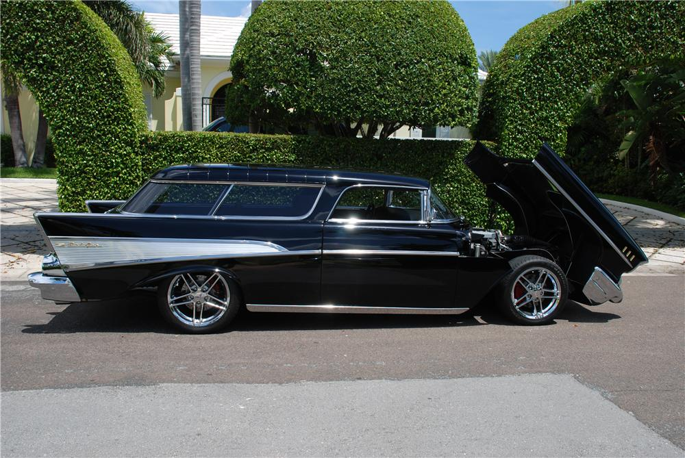 1957 CHEVROLET NOMAD CUSTOM WAGON - Side Profile - 89075
