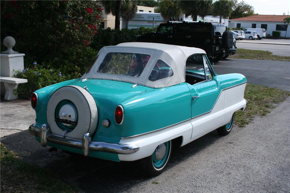 1960 NASH METROPOLITAN 2 DOOR CONVERTIBLE - Rear 3/4 - 89086