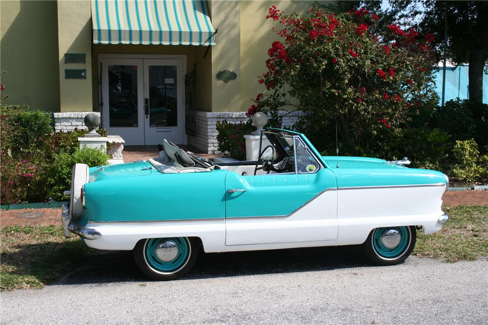 1960 NASH METROPOLITAN 2 DOOR CONVERTIBLE - Side Profile - 89086