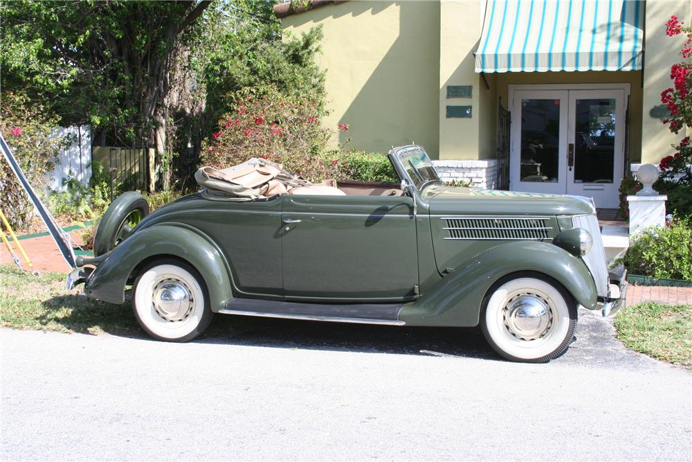 1936 FORD CLUB CABRIOLET - Side Profile - 89087