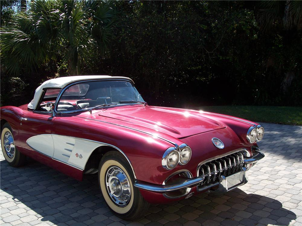 1959 CHEVROLET CORVETTE 2 DOOR CONVERTIBLE - Front 3/4 - 89089
