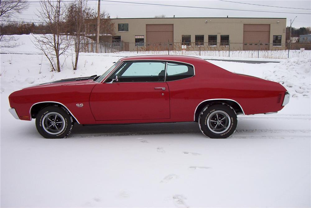 1970 CHEVROLET CHEVELLE 2 DOOR HARDTOP - Side Profile - 89095