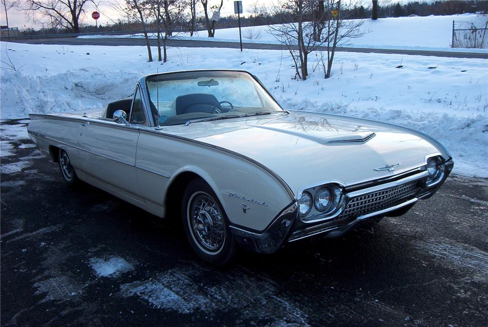1962 FORD THUNDERBIRD 2 DOOR ROADSTER - Front 3/4 - 89097