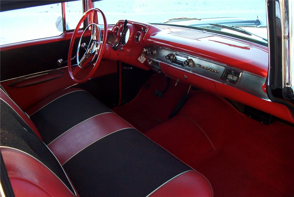 1957 CHEVROLET BEL AIR CUSTOM 2 DOOR CONVERTIBLE - Interior - 89099