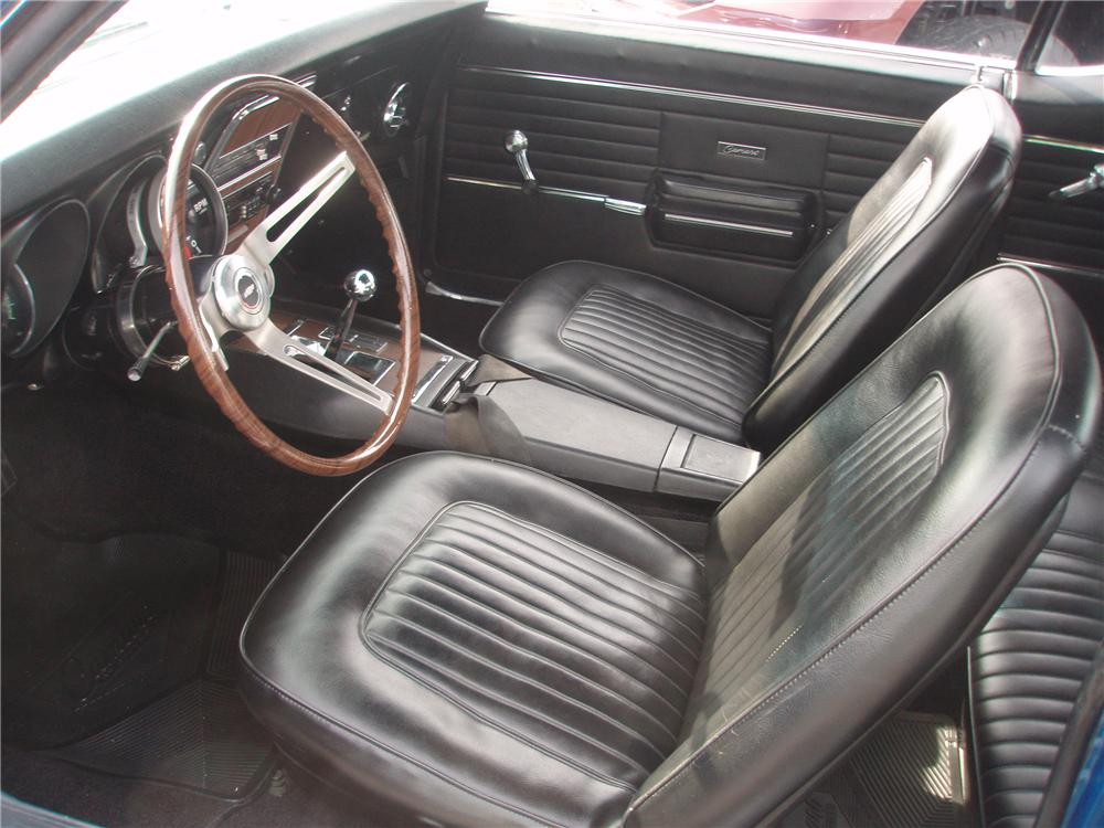 1968 CHEVROLET CAMARO RS/SS 2 DOOR COUPE - Interior - 89107