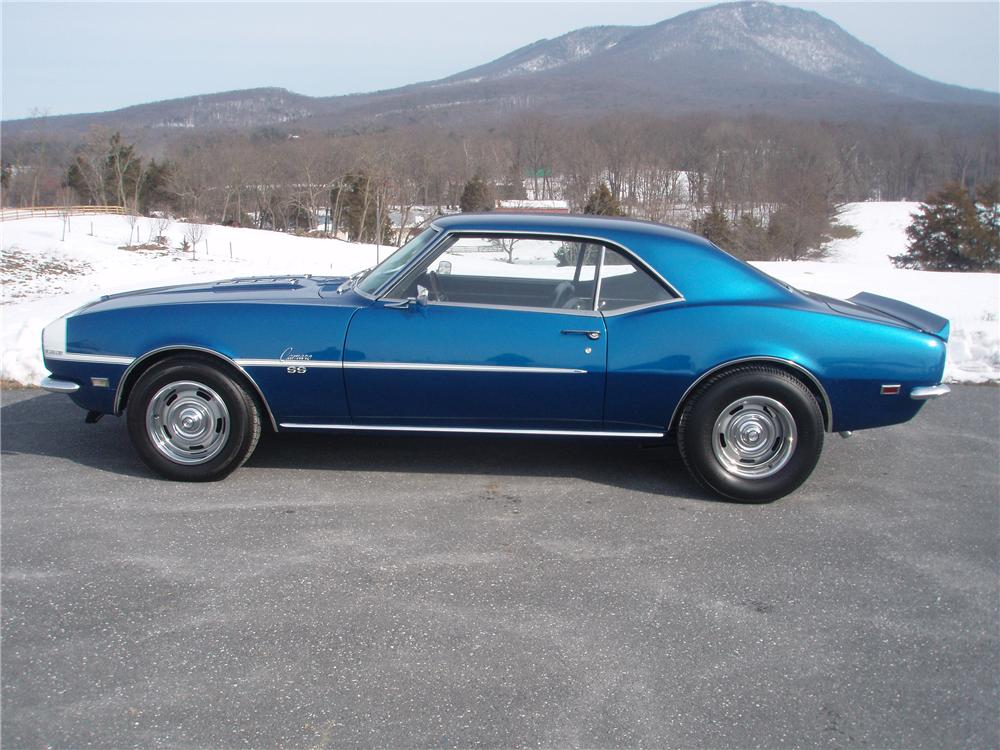 1968 CHEVROLET CAMARO RS/SS 2 DOOR COUPE - Side Profile - 89107