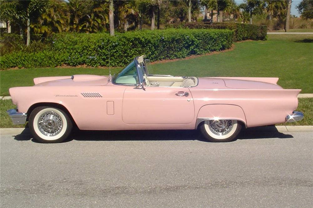 1957 FORD THUNDERBIRD 2 DOOR CONVERTIBLE - Side Profile - 89113