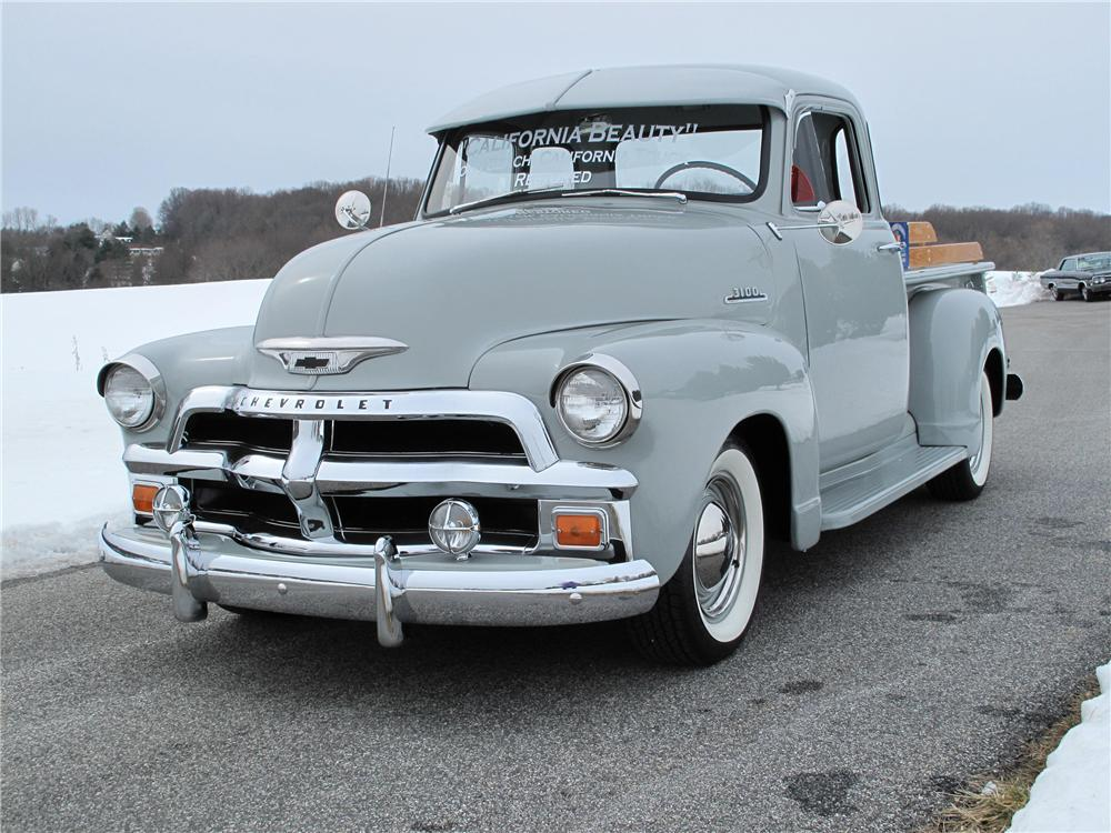 1954 CHEVROLET 3100 5 WINDOW PICKUP - Front 3/4 - 89116