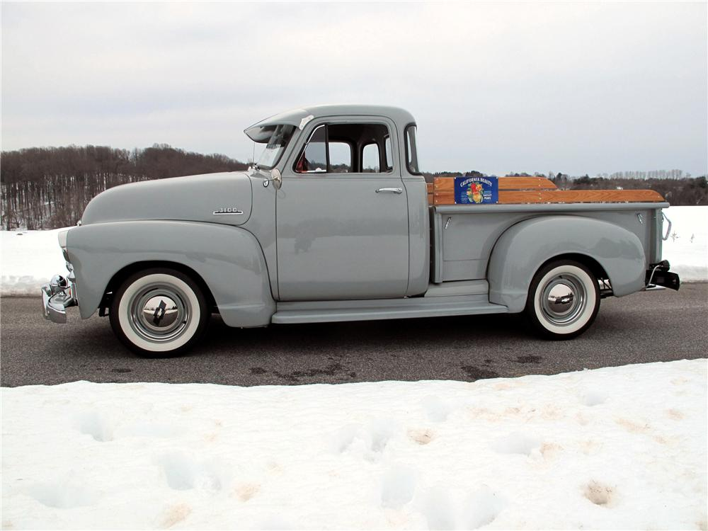 1954 CHEVROLET 3100 5 WINDOW PICKUP - Side Profile - 89116