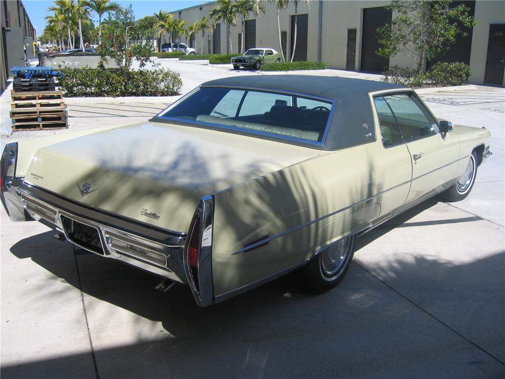 1972 CADILLAC DE VILLE 2 DOOR COUPE - Rear 3/4 - 89129
