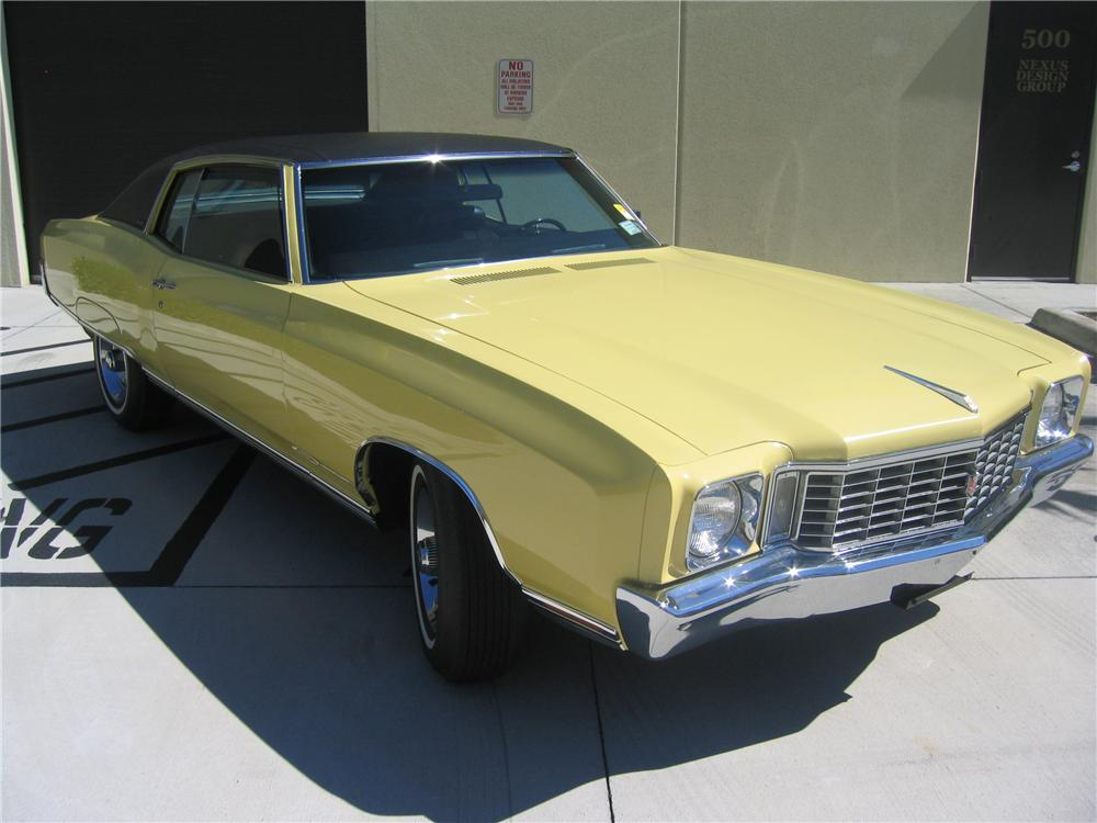 1972 CHEVROLET MONTE CARLO 2 DOOR COUPE - Front 3/4 - 89131