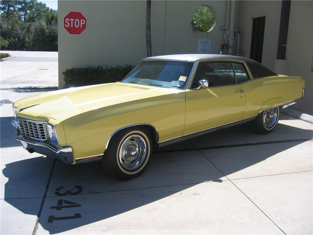1972 CHEVROLET MONTE CARLO 2 DOOR COUPE - Side Profile - 89131