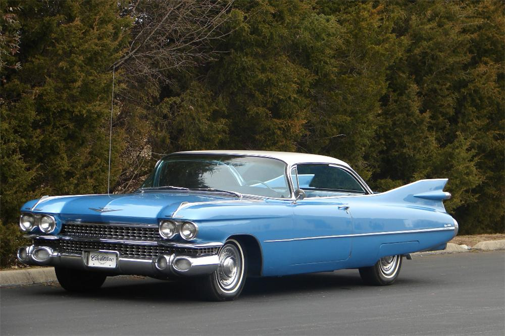 1959 CADILLAC COUPE DE VILLE 2 DOOR COUPE - Front 3/4 - 89138