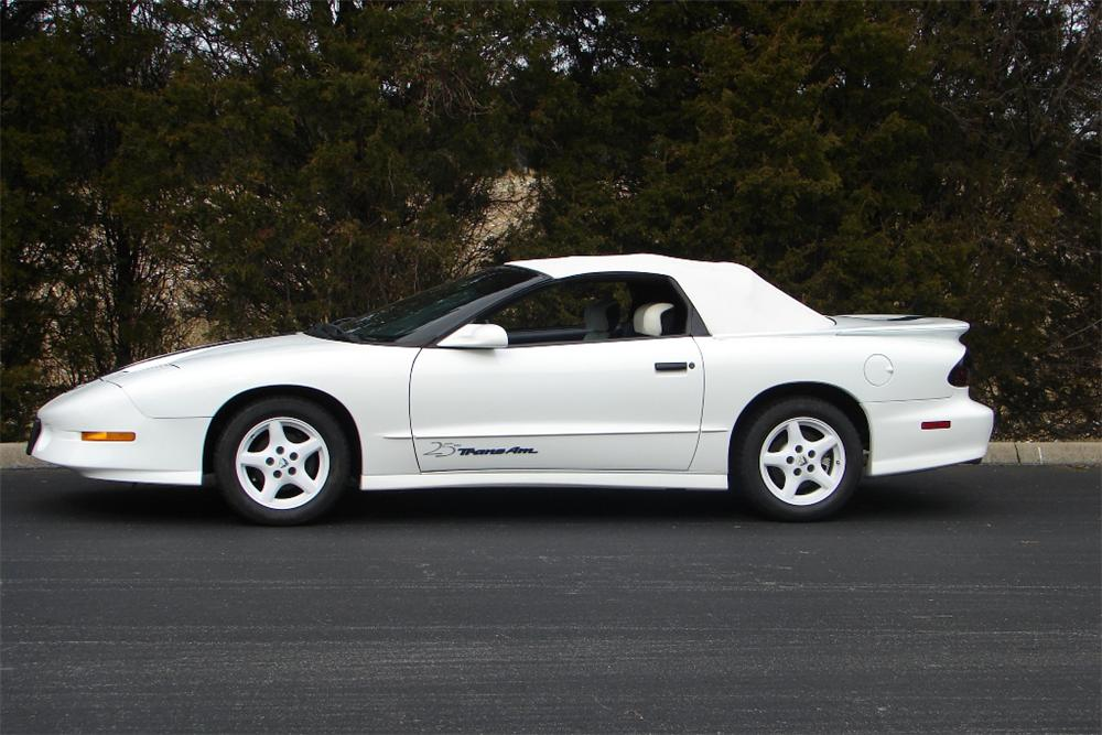1994 PONTIAC FIREBIRD TRANS AM CONVERTIBLE - Side Profile - 89139