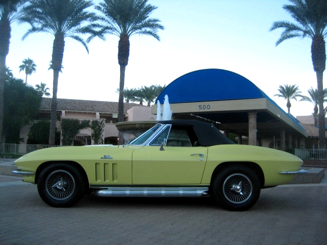 1966 CHEVROLET CORVETTE 2 DOOR CONVERTIBLE - Side Profile - 89157