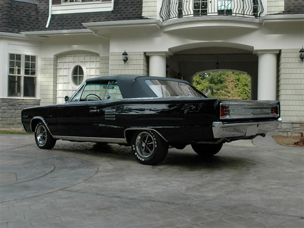 1966 DODGE CORONET 500 2 DOOR CONVERTIBLE - Rear 3/4 - 89160