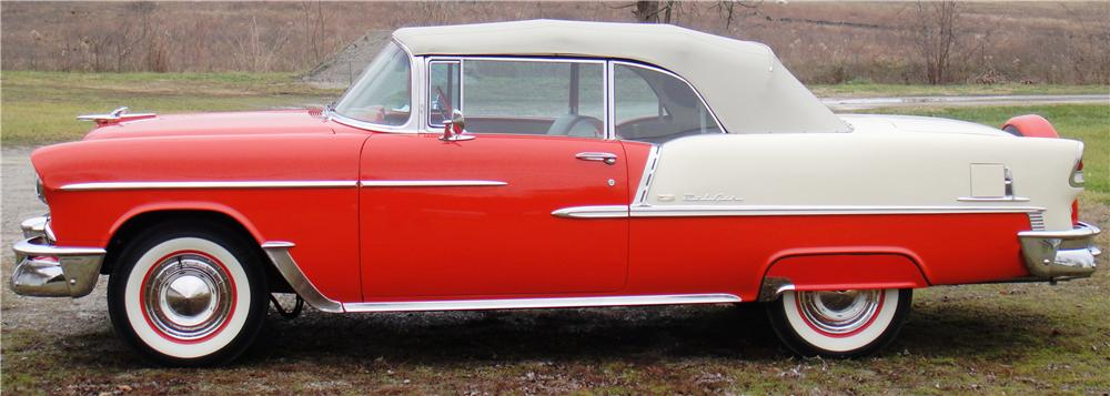 1955 CHEVROLET BEL AIR CONVERTIBLE - Front 3/4 - 89171