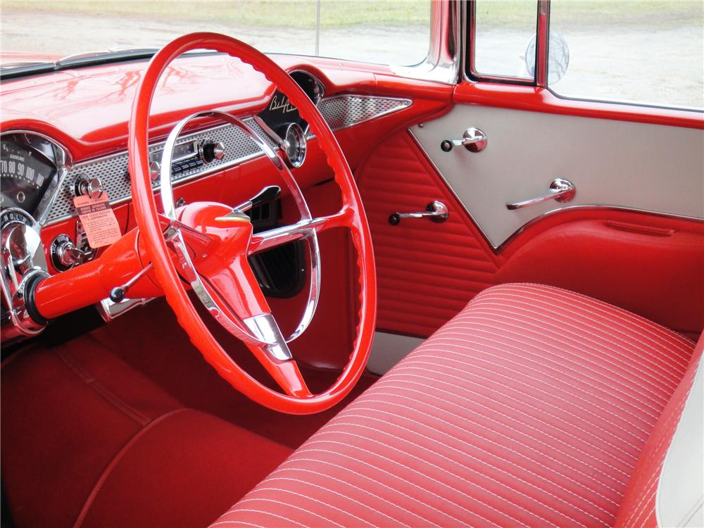 1955 CHEVROLET BEL AIR CONVERTIBLE - Interior - 89171