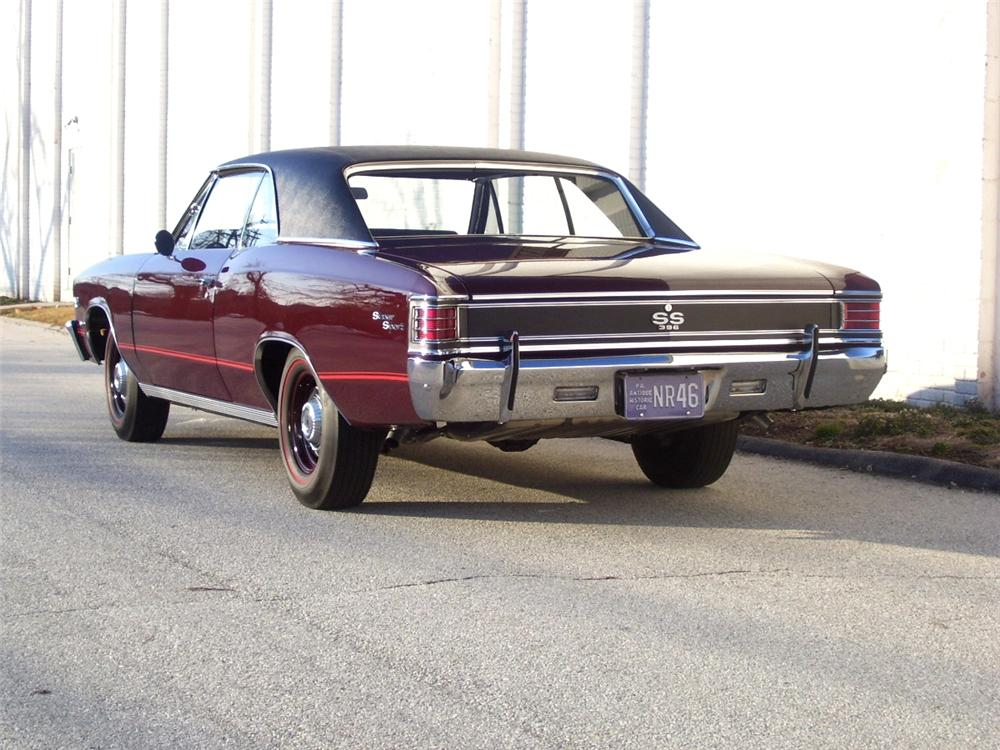 1967 CHEVROLET CHEVELLE SS 396 COUPE - Rear 3/4 - 89181