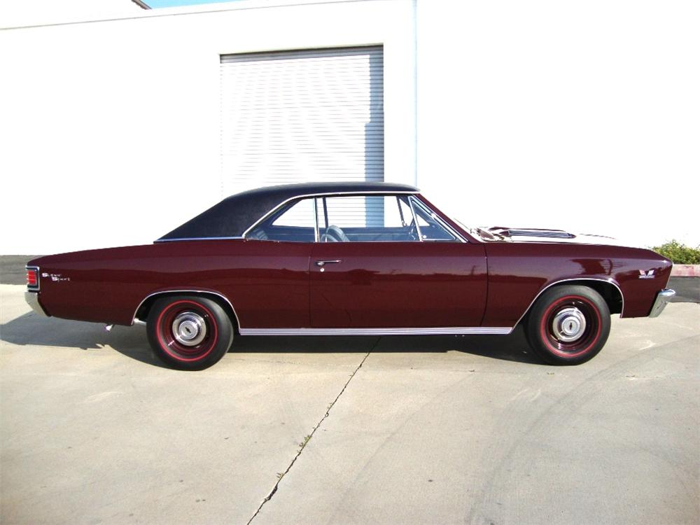 1967 CHEVROLET CHEVELLE SS 396 COUPE - Side Profile - 89181
