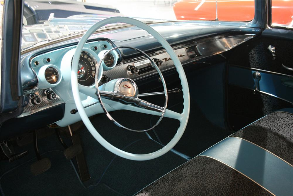 1957 CHEVROLET BEL AIR 2 DOOR COUPE - Interior - 89203