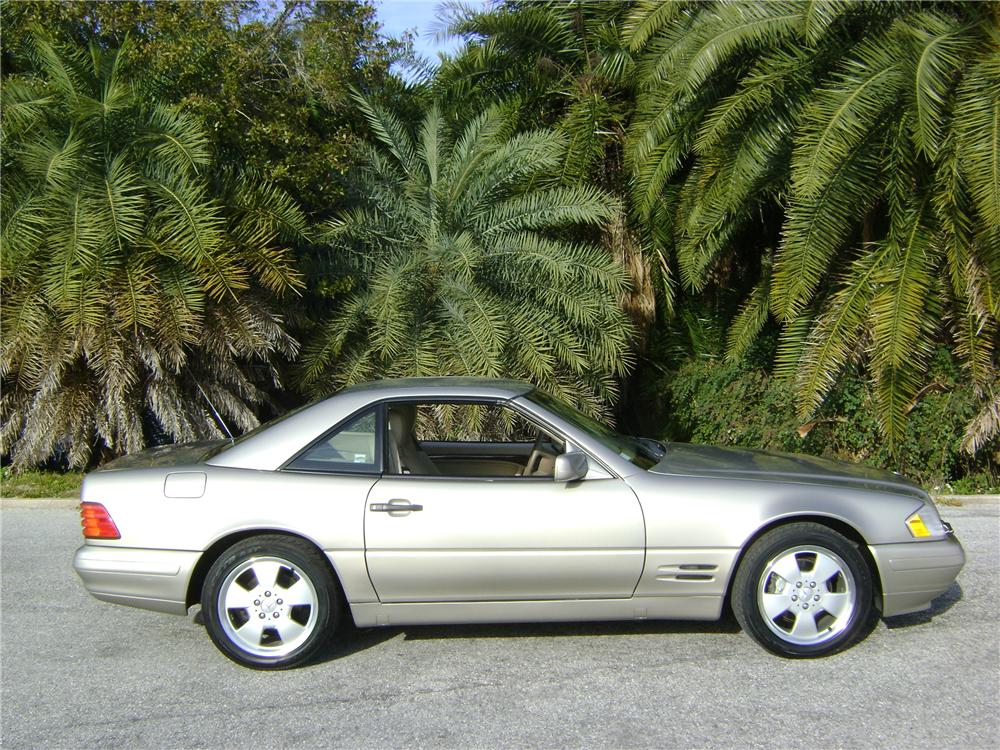 1998 MERCEDES-BENZ 500SL 2 DOOR CONVERTIBLE - Side Profile - 89228