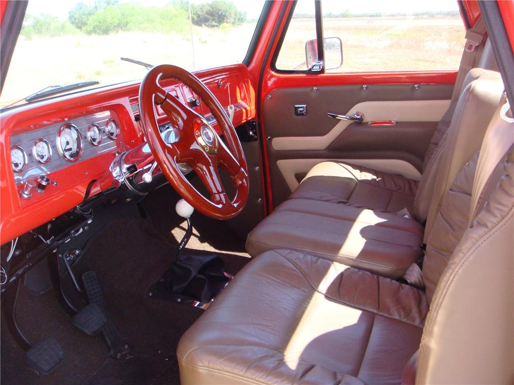 1966 CHEVROLET C-10 STEP-SIDE CUSTOM PICKUP - Interior - 89231
