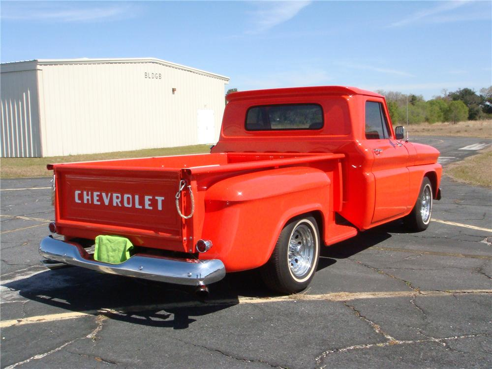 1966 CHEVROLET C-10 STEP-SIDE CUSTOM PICKUP - Rear 3/4 - 89231