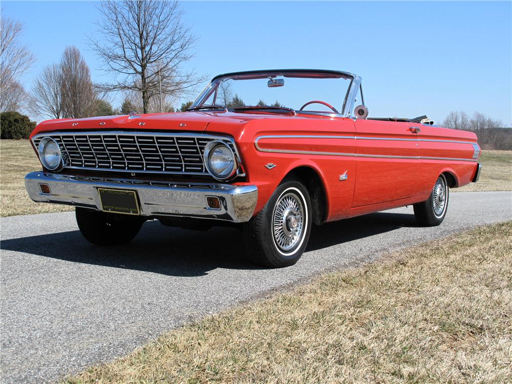 1964 FORD FALCON 2 DOOR CONVERTIBLE - Front 3/4 - 89279
