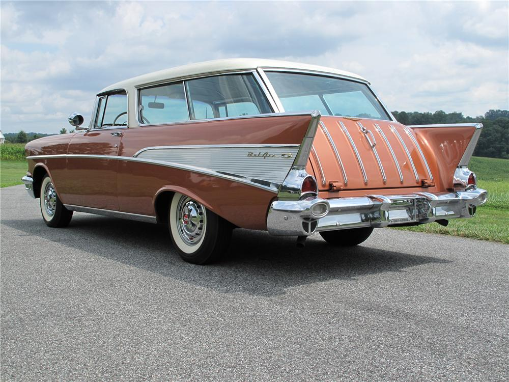 1957 CHEVROLET NOMAD WAGON - Rear 3/4 - 89282