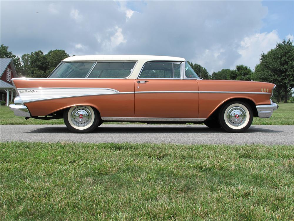 1957 CHEVROLET NOMAD WAGON - Side Profile - 89282