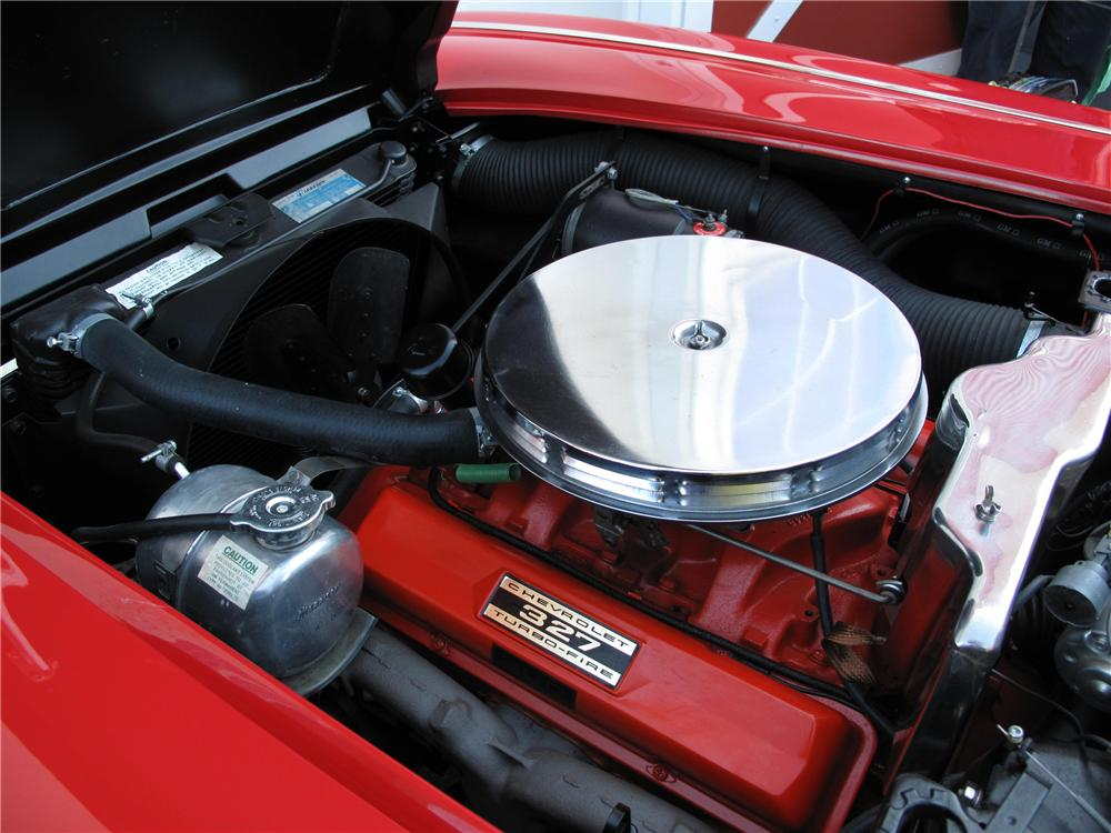 1962 CHEVROLET CORVETTE 2 DOOR CONVERTIBLE - Engine - 89283