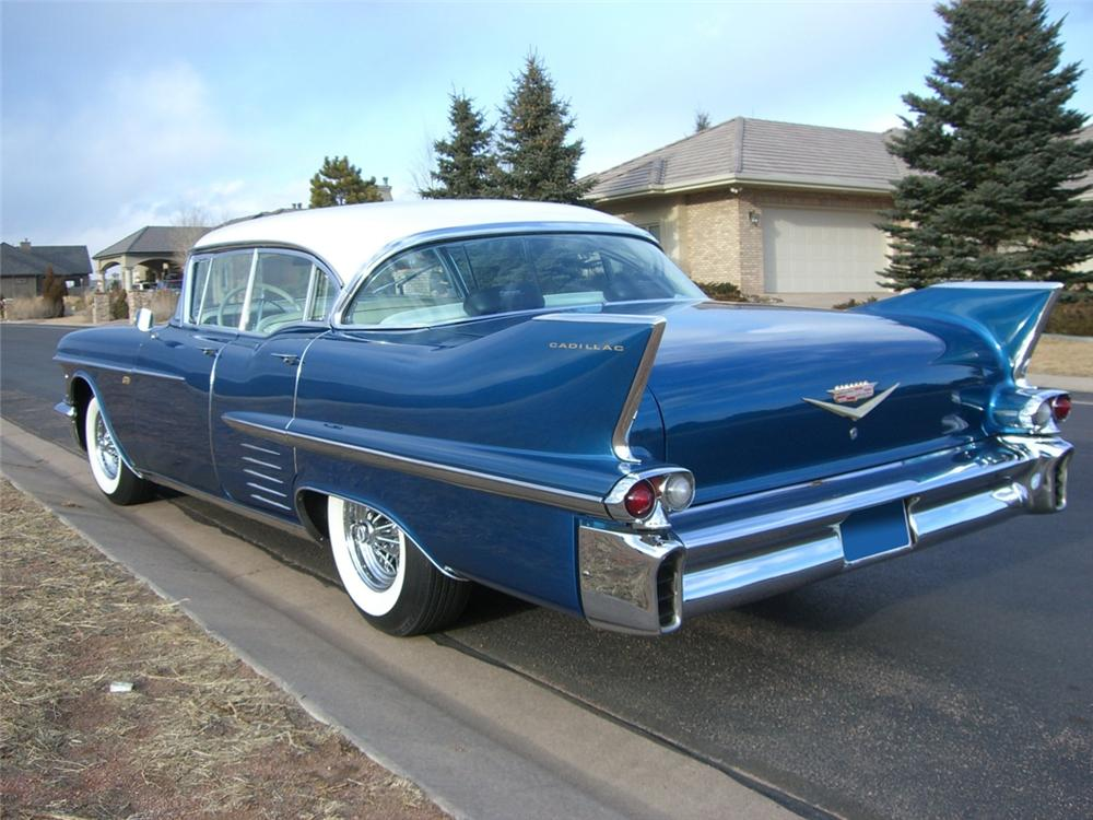1958 CADILLAC SEDAN DE VILLE CUSTOM 4 DOOR HARDTOP - Rear 3/4 - 89294