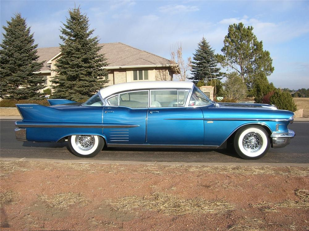 1958 CADILLAC SEDAN DE VILLE CUSTOM 4 DOOR HARDTOP - Side Profile - 89294