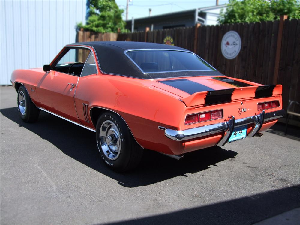 1969 CHEVROLET CAMARO Z/28 2 DOOR HARDTOP - Rear 3/4 - 89303
