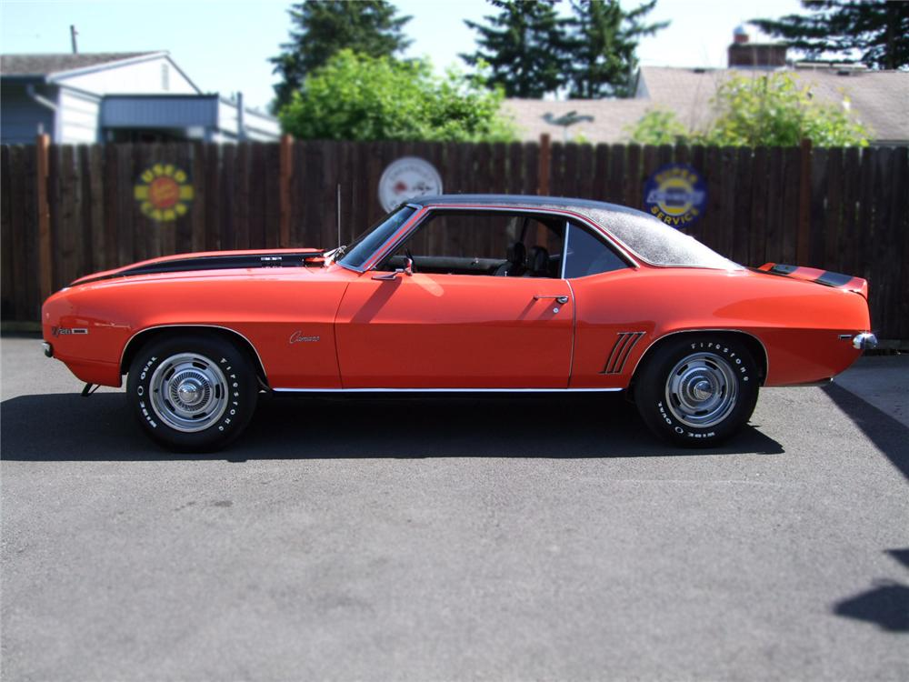 1969 CHEVROLET CAMARO Z/28 2 DOOR HARDTOP - Side Profile - 89303