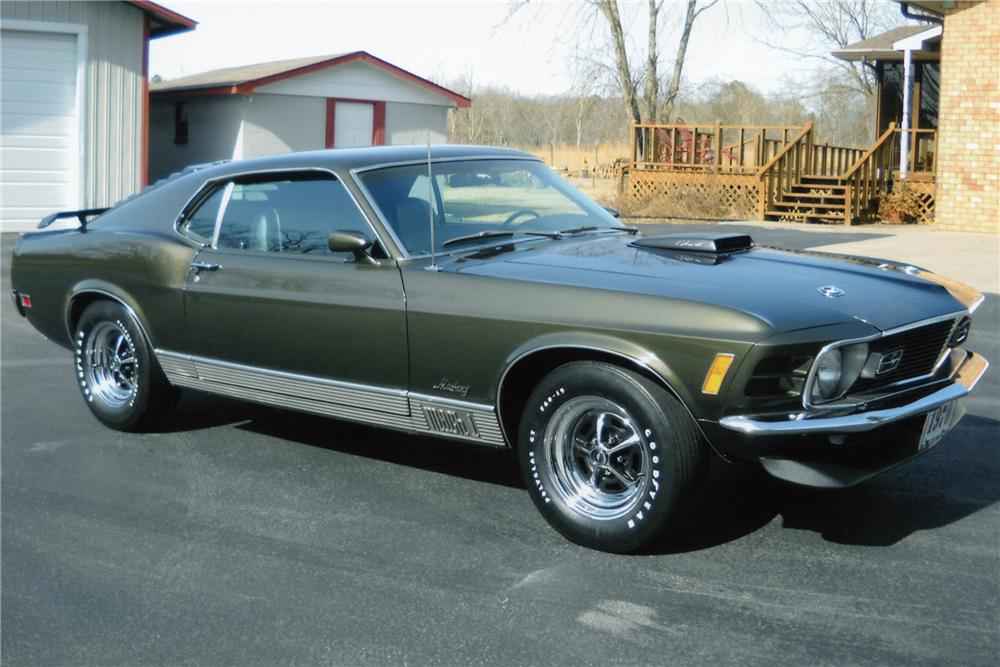 1970 FORD MUSTANG MACH 1 FASTBACK - Front 3/4 - 89310