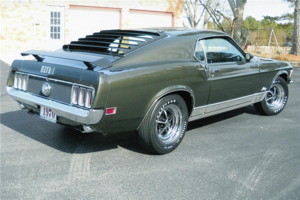 1970 FORD MUSTANG MACH 1 FASTBACK - Rear 3/4 - 89310