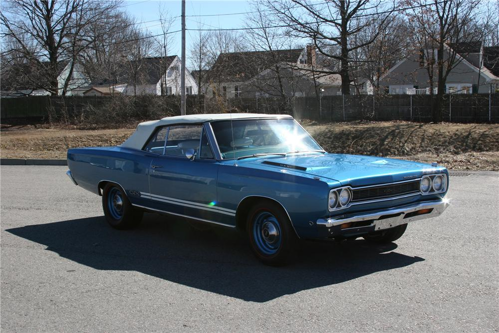 1968 PLYMOUTH GTX 2 DOOR CONVERTIBLE - Front 3/4 - 89311