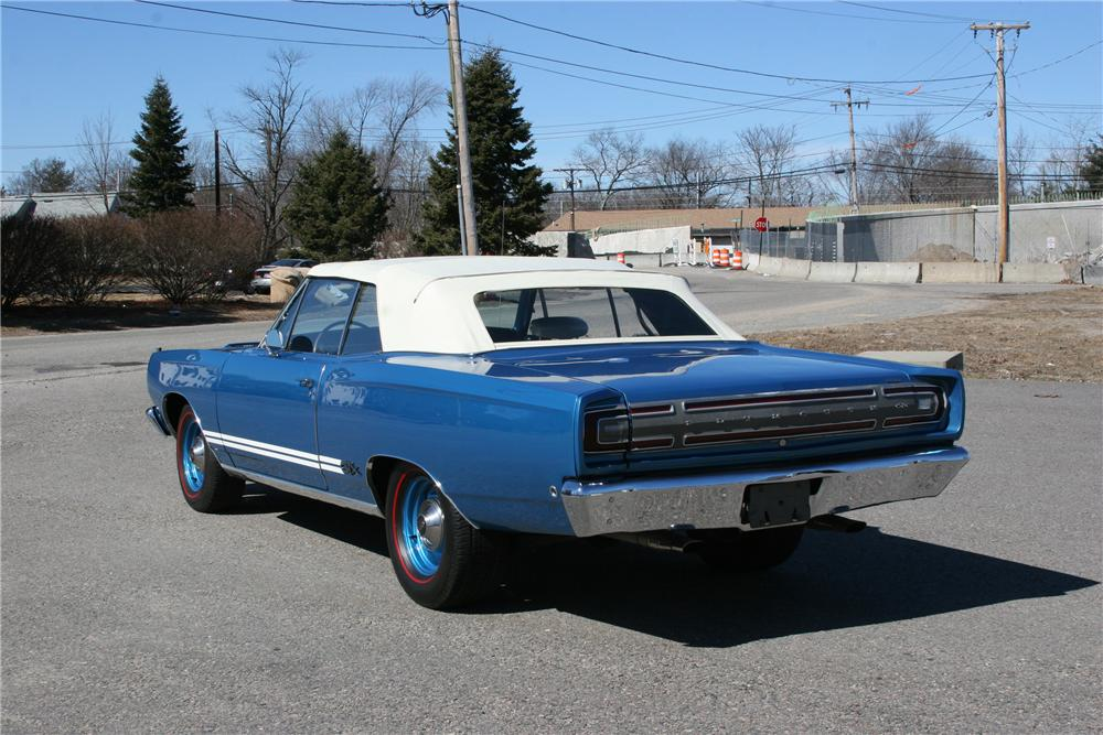 1968 PLYMOUTH GTX 2 DOOR CONVERTIBLE - Rear 3/4 - 89311