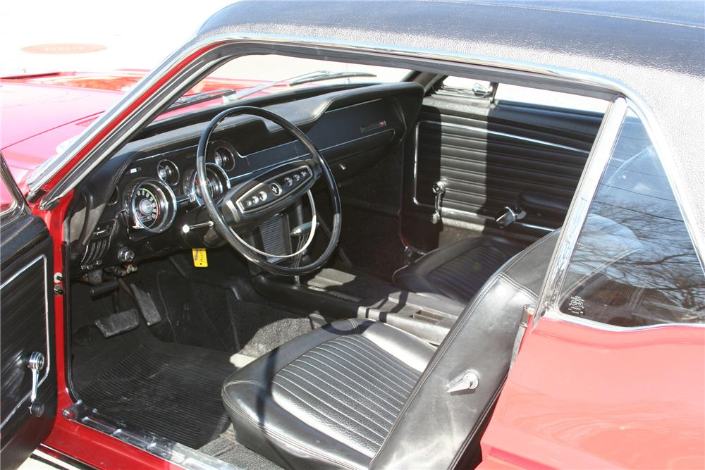 1968 FORD MUSTANG CALIFORNIA SPECIAL 2 DOOR COUPE - Interior - 89313