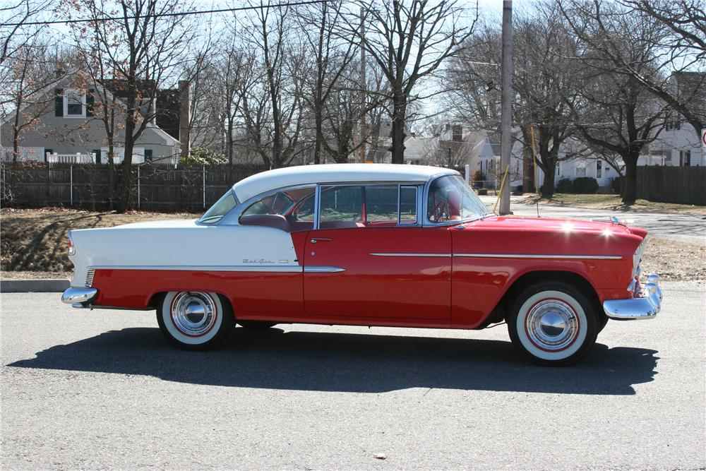 1955 CHEVROLET BEL AIR 2 DOOR HARDTOP - Side Profile - 89314