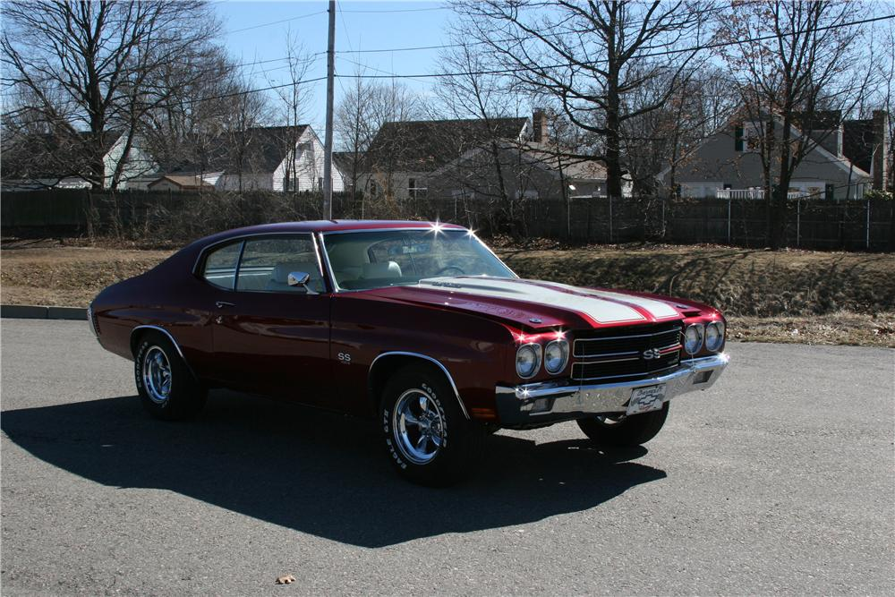 1970 CHEVROLET CHEVELLE CUSTOM 2 DOOR COUPE - Front 3/4 - 89315