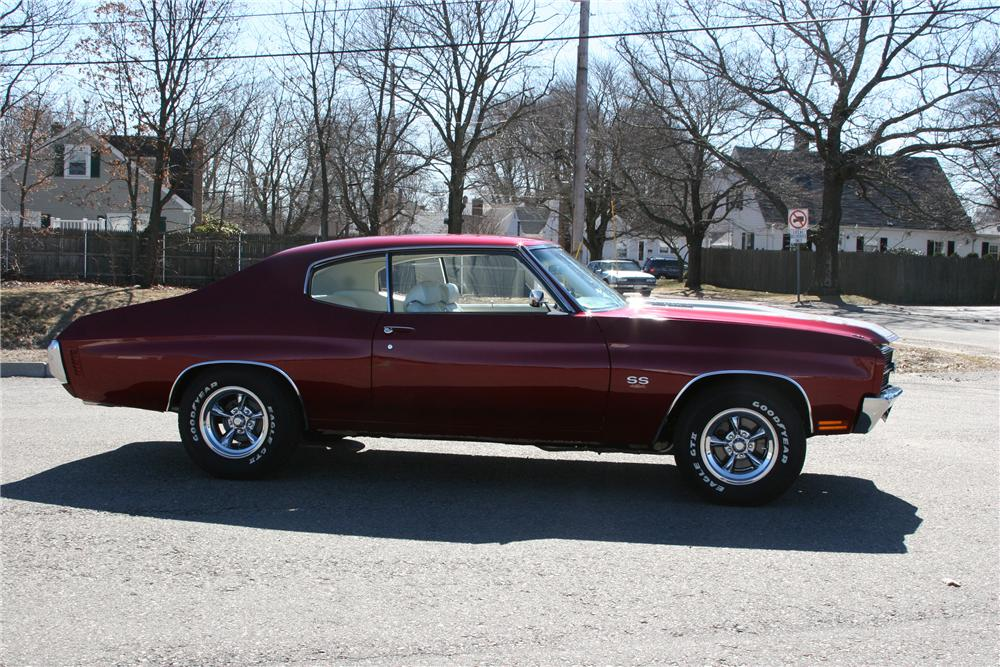 1970 CHEVROLET CHEVELLE CUSTOM 2 DOOR COUPE - Side Profile - 89315
