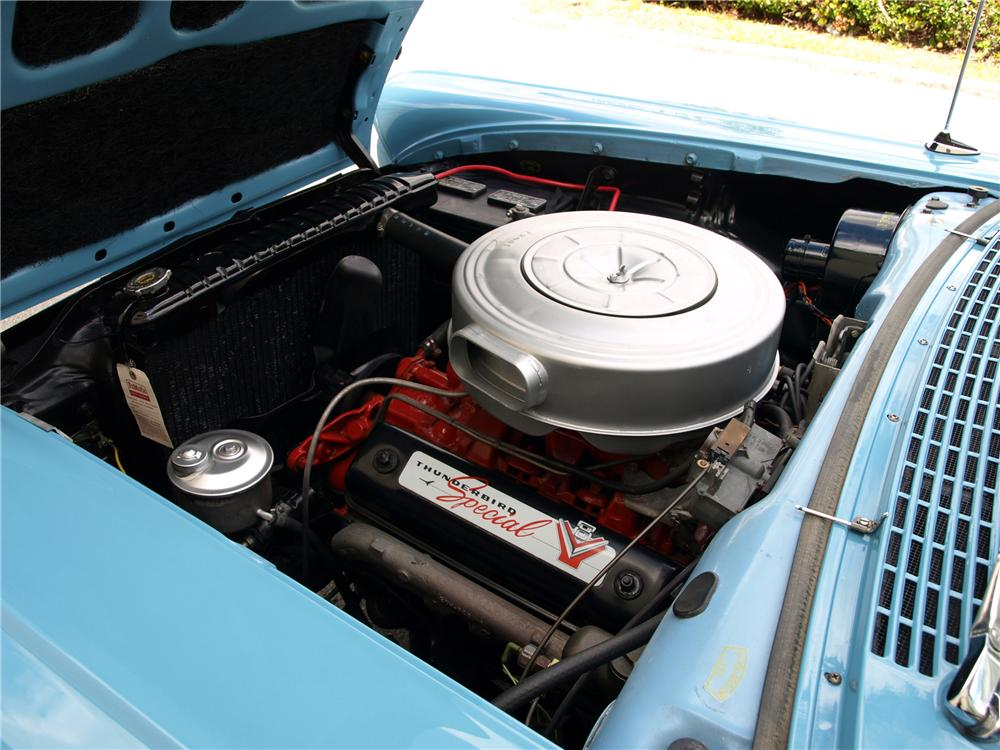 1957 FORD FAIRLANE 500 RETRACTABLE CONVERTIBLE - Engine - 89319