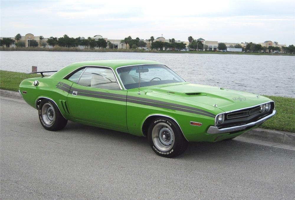1971 DODGE CHALLENGER 2 DOOR COUPE - Side Profile - 89336