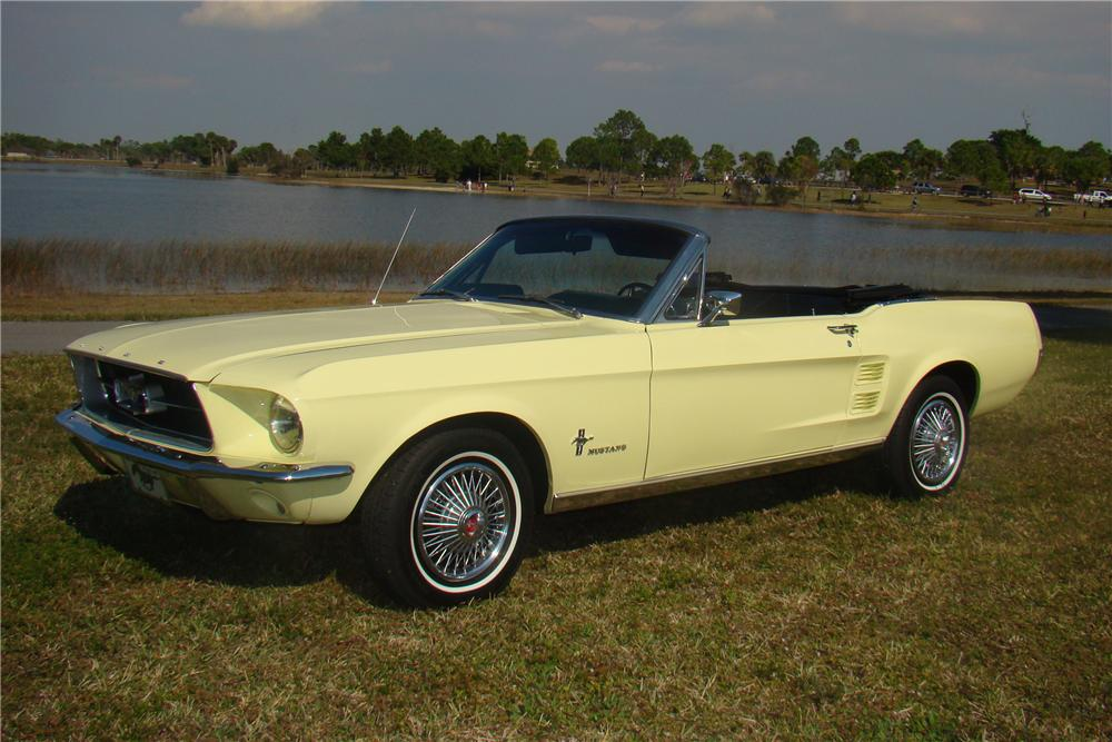 1967 FORD MUSTANG CONVERTIBLE - Side Profile - 89575
