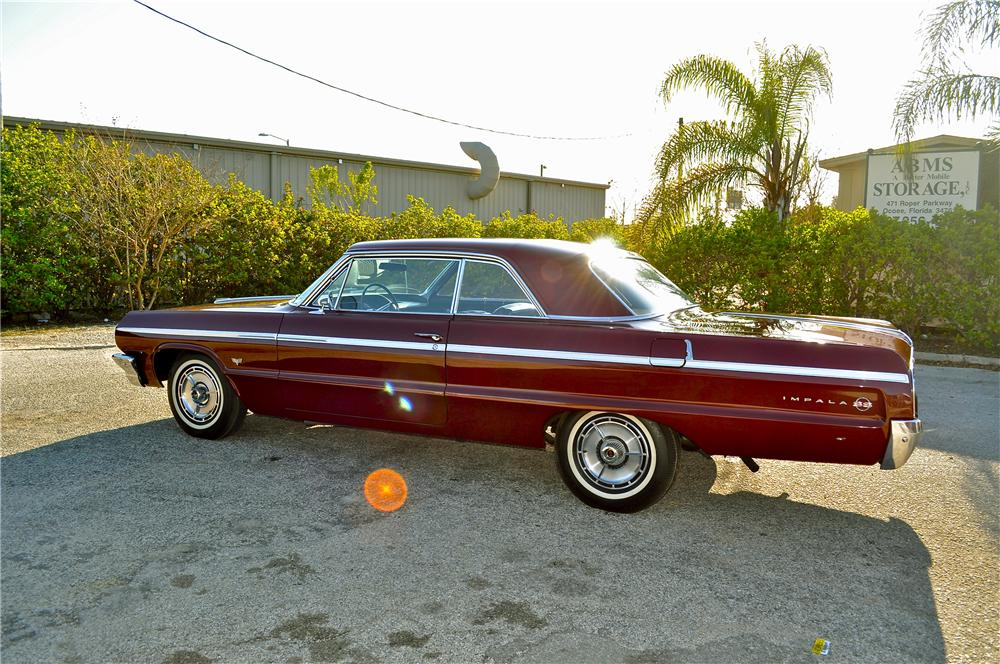 1964 CHEVROLET IMPALA SS 2 DOOR HARDTOP - Side Profile - 89577