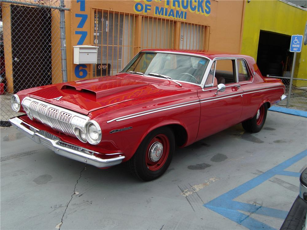 1963 DODGE DART CUSTOM 2 DOOR - Front 3/4 - 89579